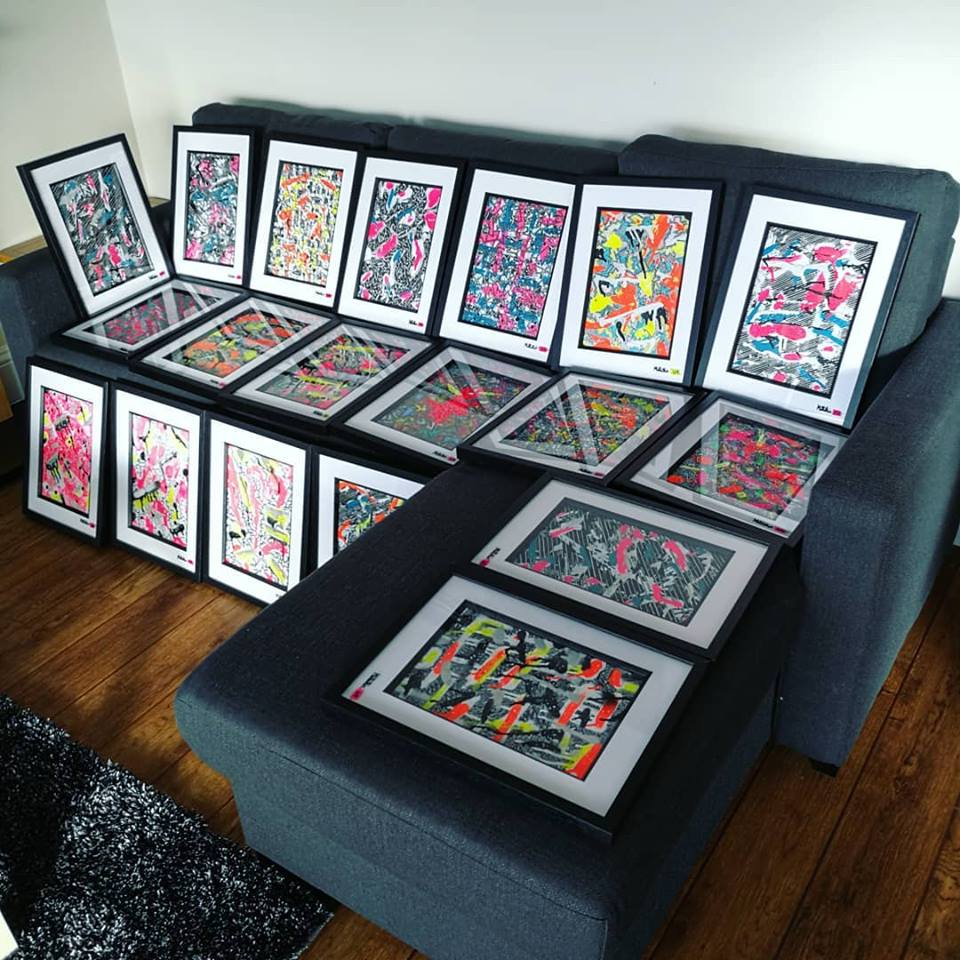 Luxury Airbnb Art Painting in A4 Frames