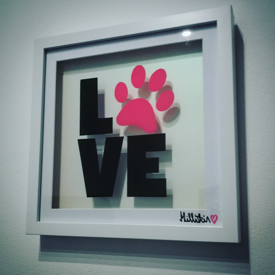 """PAW LOVE"" Glass Painting"