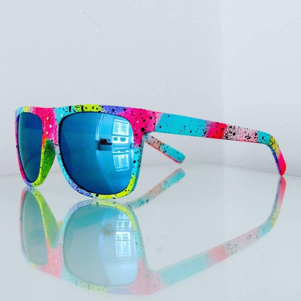 Original Spray Painted Sunglasses (Blue Lens)