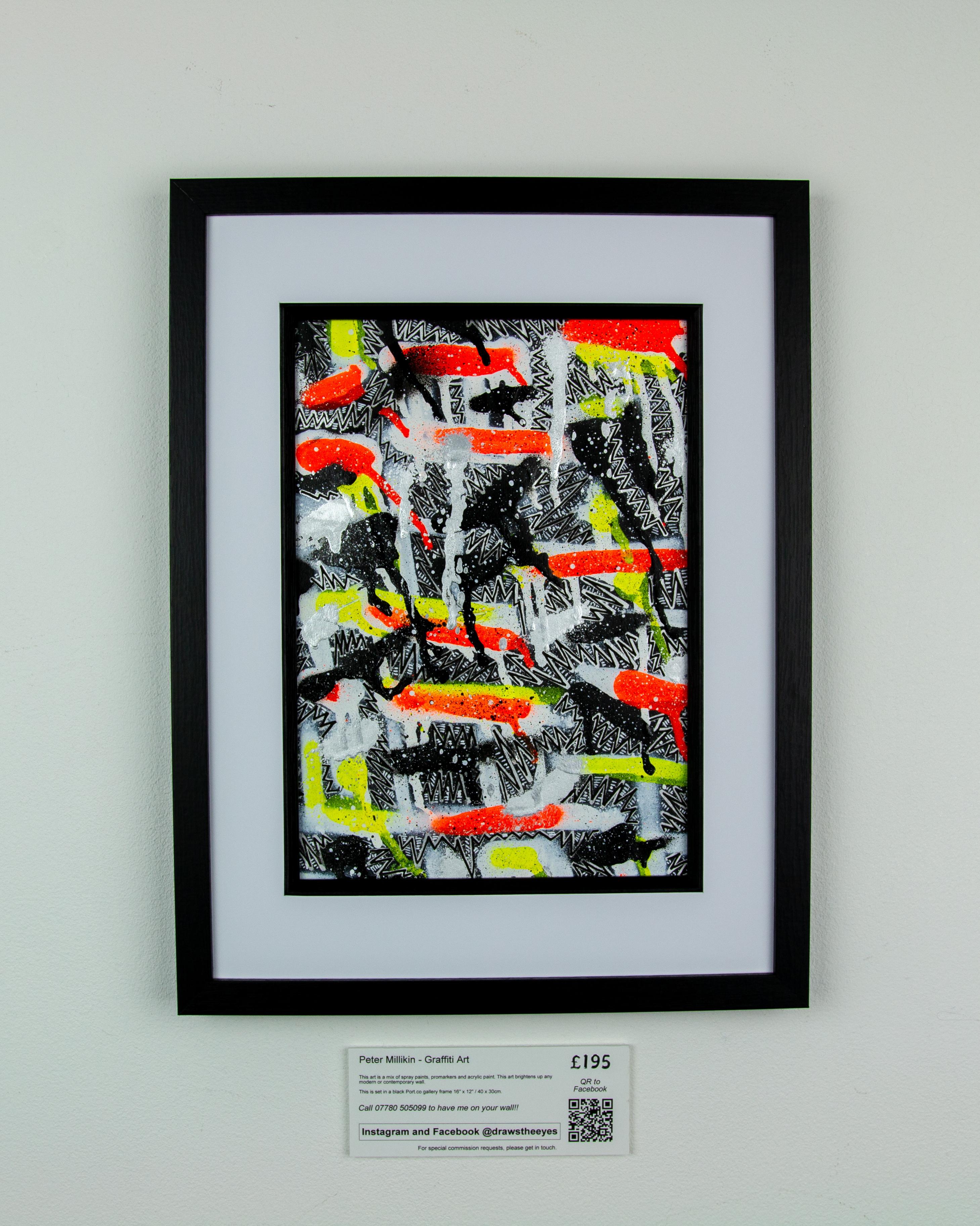 Framed A4 Spray Paint On Card – Marina Vista 06