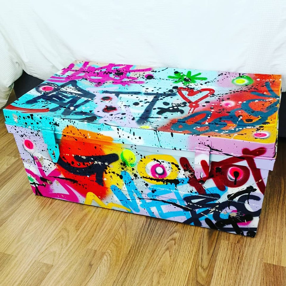Graffiti Metal Army Storage Box