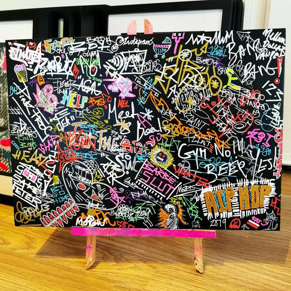 Random Graffiti Style MDF Board