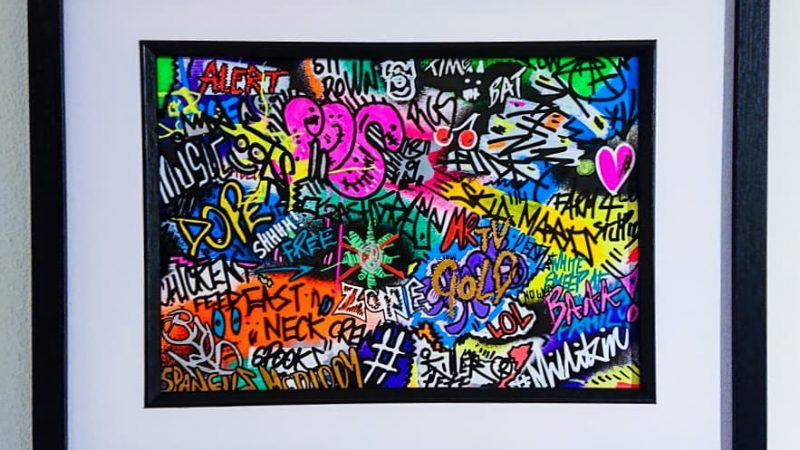 """Chicken Feed"" Graffiti Spray Painting"