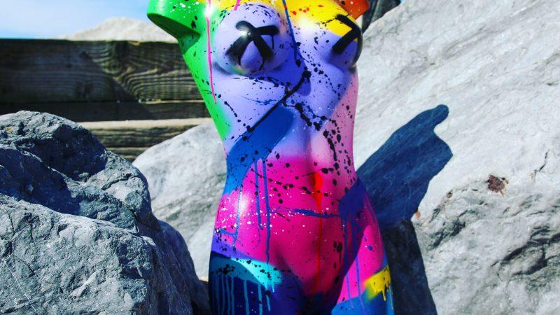 Female Mannequin Art – Spray Paint