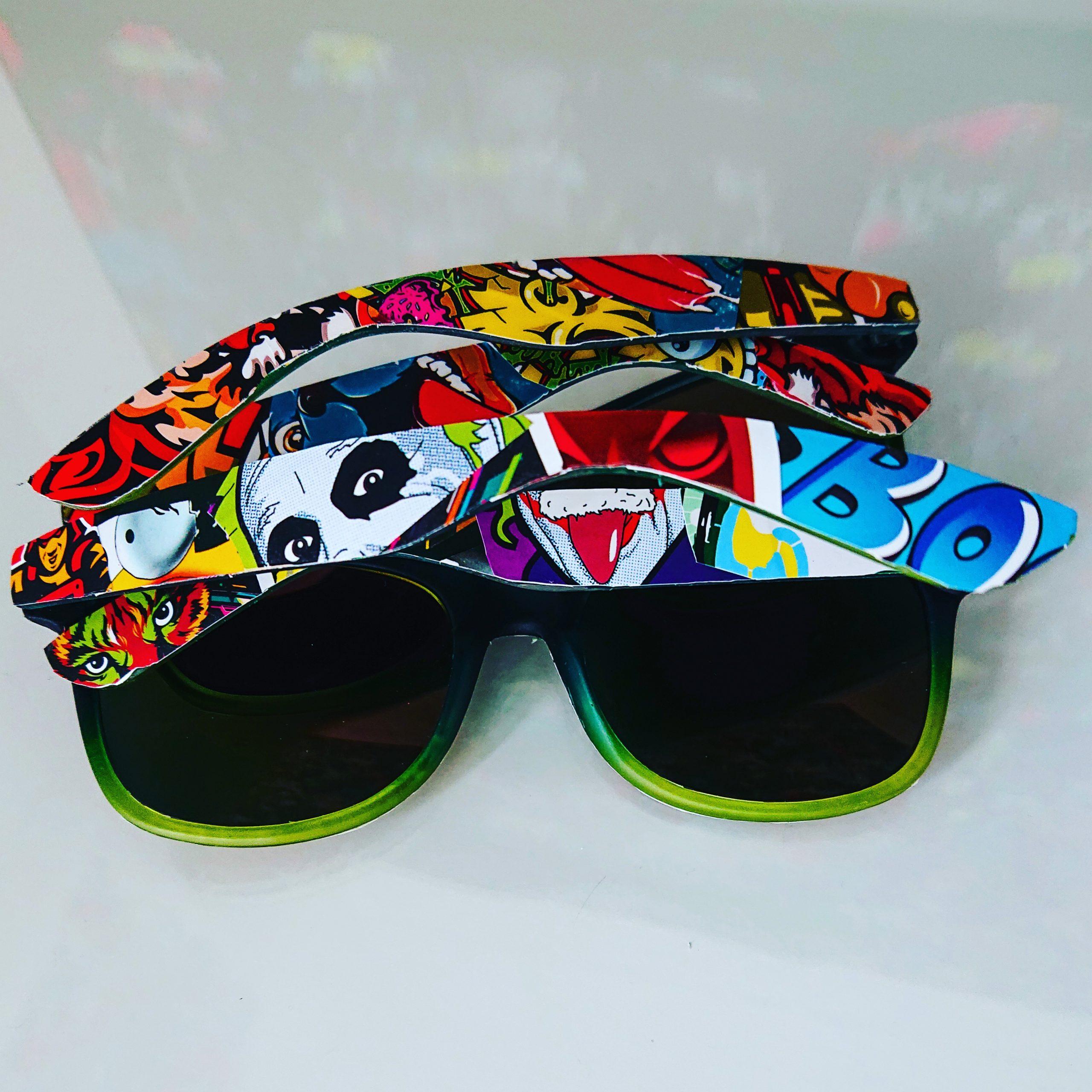 Sticker Bombing Sunglasses