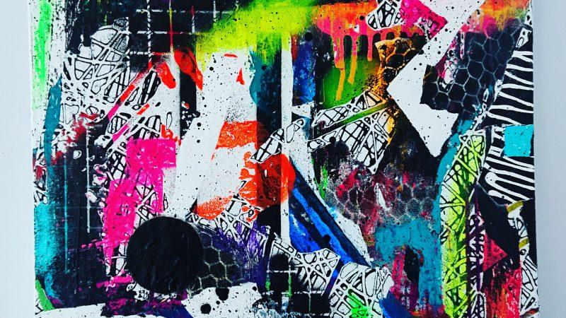 """Mixed Emotions"" – Spray Paint On Deep Box Canvas"