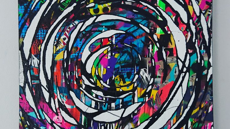 Fingerprint – Spray Painting on Canvas