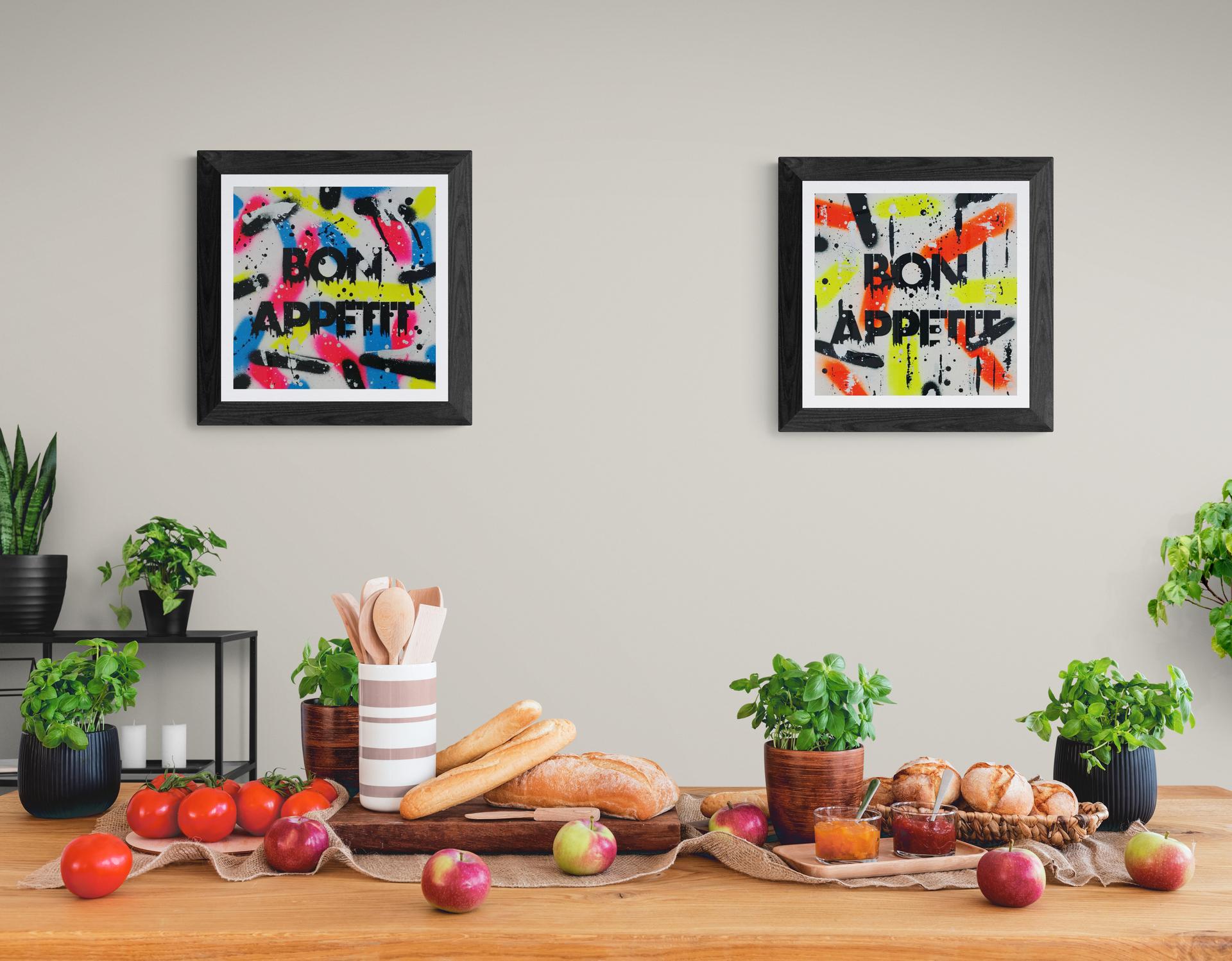 Bon Appétit - Spray Paint Canvas