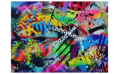Euphoric Vibes – Graffiti Style Abstract Spray Painting