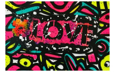 HASHTAG LOVE – Spray Painted Canvas