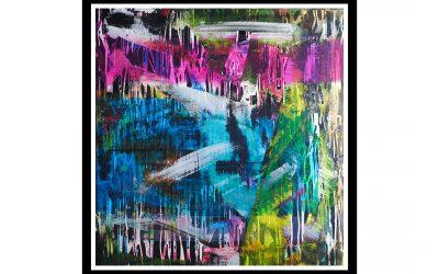 Voiceless Eyes – Acrylic and Spray Paint